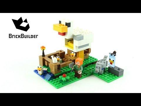 Vidéo LEGO Minecraft 21140 : Le poulailler