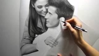 Сериал Закрытая школа, Drawing Pavel Priluchnyi and Agata Muceniece (by Ellen Sunbeam)
