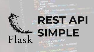 Flask, REST API Simple