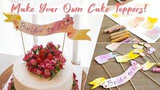 DIY:Bridal Shower Cake Topper Ideas Oil Pastel: 오일파스텔로 브라이덜 샤워 케이크 토퍼 만들기 [NIA]
