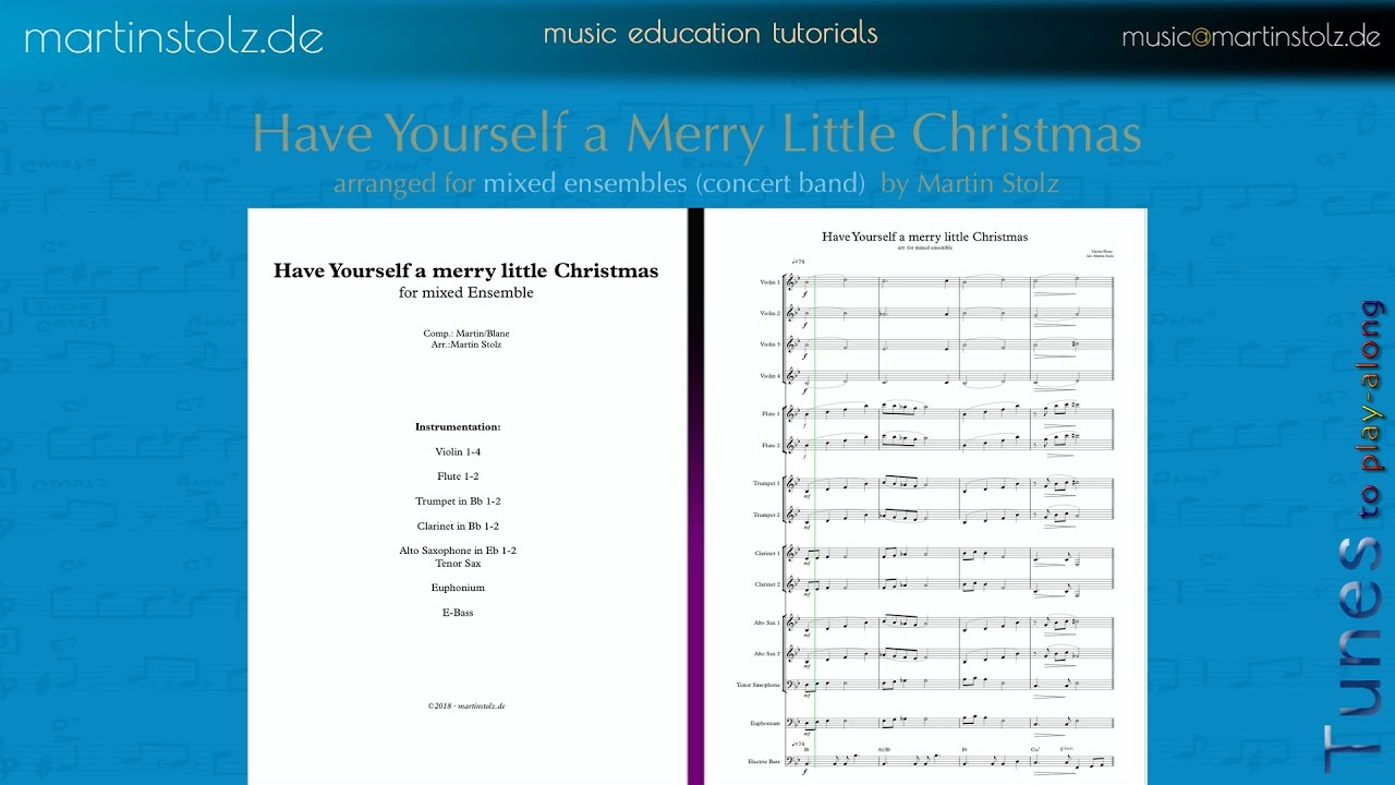 Have Yourself a Merry Little Christmas for Concert Band - Martin ...