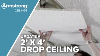 Converting an Outdated 2x4 Ceiling to a Modern 2x2 Ceiling