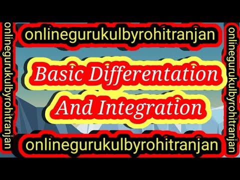 Basic Differentation And Integration