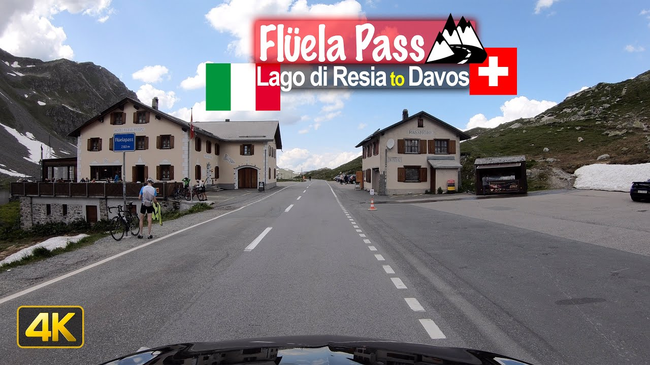 Driving from Lago di Resia Italy to Davos Switzerland via Flüelapass
