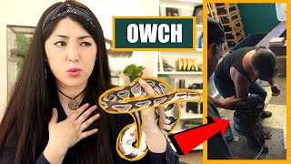 PET YouTuber Reacts To AWFUL Viral Snake Handling Video | EMZOTIC