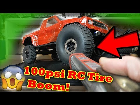 Inflatable RC Car Tire VS 100 psi (RIP Headphone Users)..........
