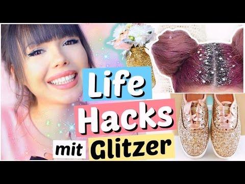 DAS kann man alles mit Glitzer machen 😳 LIFE HACKS  | ViktoriaSarina