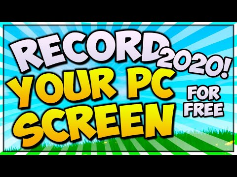 How To Record Your Computer Screen FREE! (2020/2019 EDITION + BEST Settings)