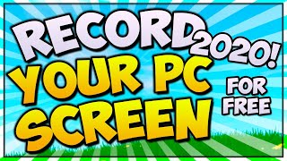 How To Record Your Computer Screen FREE! (2019 EDITION + BEST Settings)