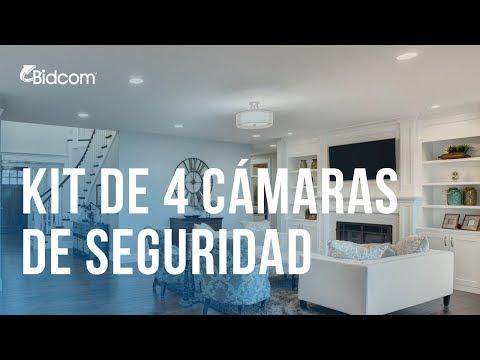 Kit 4 Cámaras de seguridad IP Full HD CCTV DVR Visión Nocturna P2PKIT01