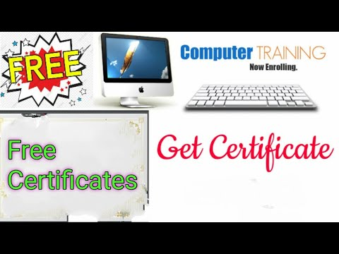 free online computer courses with certificate | Free basic Computer ...