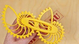 3D Печать шестерёнок необычной формы. Они крутятся!!!