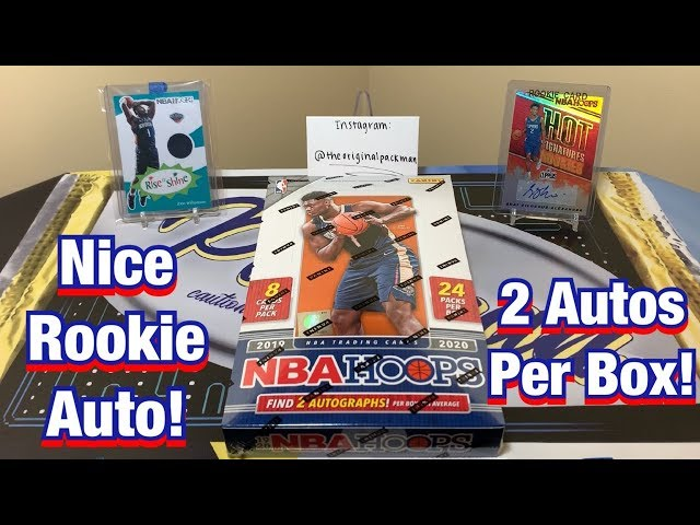 2019-20 Panini NBA Hoops Hobby Box Break - $80 w/ 2 Autos! Nice Rookie Auto!