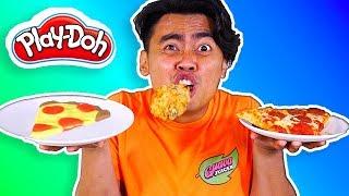 PLAYDOH FOOD VS REAL FOOD!