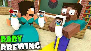 Monster School : BREWING BABY CHALLENGE NEW EPISODE - Minecraft Animation