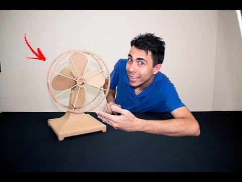 Como fazer um ventilador vintage de papelão - Faça você mesmo #8