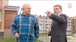 Евгений Корж контролирует работы по благоустройству Уссурийска