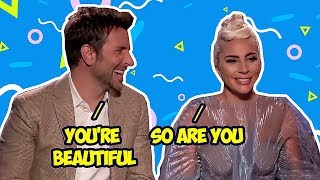 Bradley Cooper Can't Keep His Eyes Off Lady Gaga