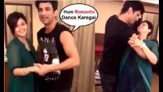 Sushant Singh Rajput DANCING With Dil Bechara Movie Co Actor At Their Hotel Room