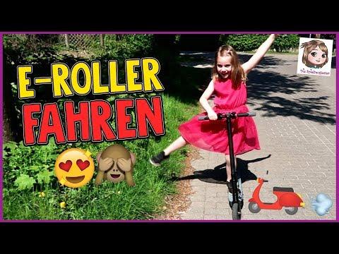 E-Scooter - Hannah fährt zum 1. Mal auf einem elektrischen Roller! - MegaWheels Elektro-Scooter S1