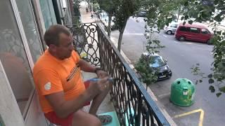 Красивые железные балконы ЛИССАБОНА  на старых зданиях ,Brigada1.lv