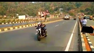 preview picture of video 'Superbikes in Assam Triumph Harley Davidson Honda SHILLONG ROAD'