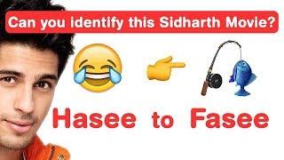 Sidharth Malhotra Emoji Challenge! Guess Bollywood Movies