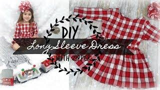 DIY  Long Sleeved Dress with Zipper