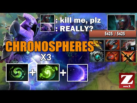Hard Carry FACELESS VOID x3 Chronospheres - GOOD LUCK NEXT TIME TERRORBLADE DOTA 2