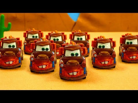 Mater Time Travels? Tow Mater Towing & Salvage Playset Cars Stop Motion Toys Animation Cartoon Movie