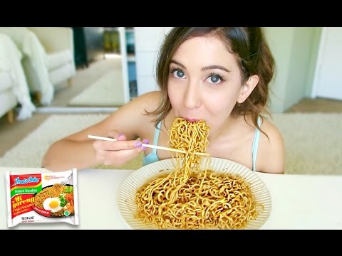 INDONESIAN NOODLES MUKBANG! Indomie Goreng Eating Show | MEESH LA