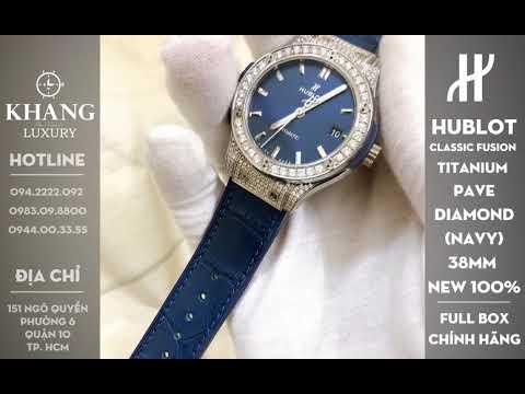 Đồng Hồ HUBLOT Classic Fusion Titanium Custom Pave Diamond 38mm (Nany) NEW 100%