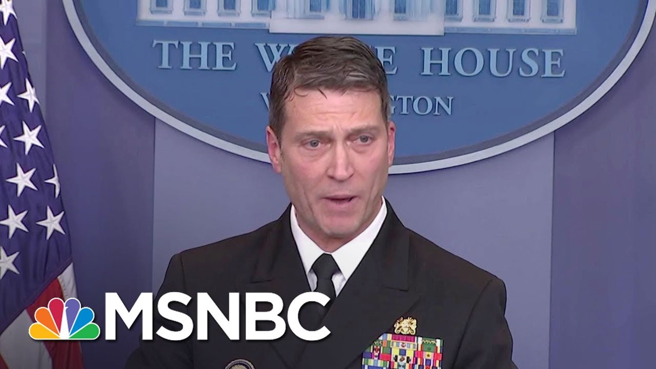 President Donald Trump Picks His Personal Doctor As New Head Of VA | All In | MSNBC thumbnail