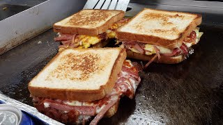 ham cheese egg toast 2,500KRW / korean street food