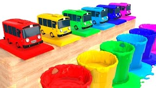 LEARN COLOR BUS for Kids - Cars Learning Educational Video - 3D Superheroes for babies