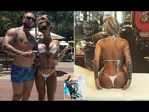 Ex Hells Angel bikie spits on tattoo dedicated to ex lover