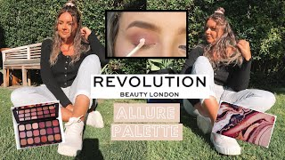 USING THE REVOLUTION ALLURE PALETTE! EASY GLAM & GLITTERY EYESHADOW TUTORIAL 2020!