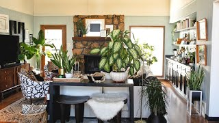 Boho Eclectic Home Filled With Plants ▸ Interior Design