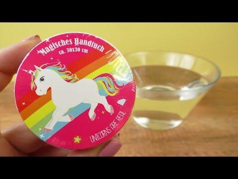 MAGISCHES EINHORN Handtuch 🦄 Super süße Geschenk Idee | Regenbogen Fun