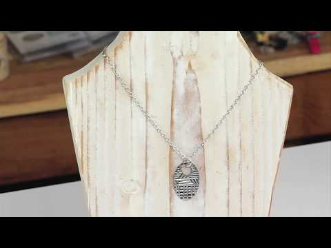 Sizzix Jewelry: How to emboss a metal pendant