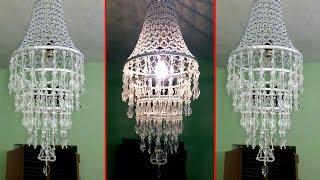 How To Make Wall Hanging Decoration | DIY Crystal Chandelier