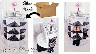 DIY 2 IN 1 SHOE RACK FOR SMALL SPACES| STORAGE AND ORGANIZATION IDEAS 2019