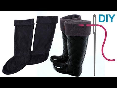 Stiefelsocken nähen für Anfänger – DIY Innenschuhe für Gummistiefel