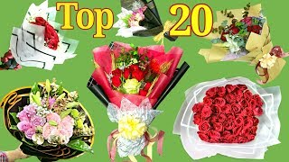 Top 20 Bouquet Of Flowers 2020 || How To Wrapping Flowers And Arrange Bouquet || New Tutorial