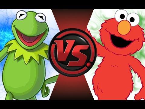 KERMIT vs ELMO! Cartoon Fight Club Episode 45