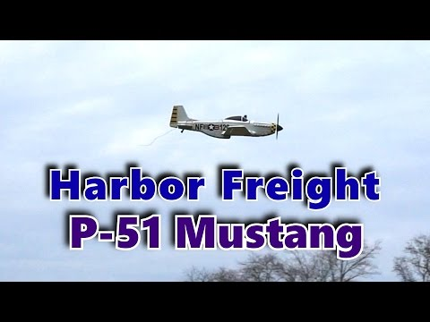 Harbor Freight RC P51 Mustang Model Airplane Flying