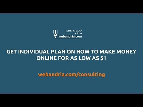 Get individual plan on how to make money online