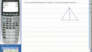 Geometry Notes Using Special Right Triangle