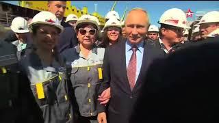 Путин поучаствовал в церемонии закладки первого танкера «Афрамакс» на заводе «Звезда»