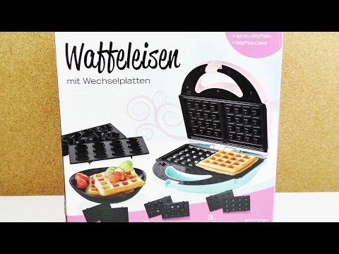 """Neues """"3 in 1"""" Waffeleisen Unboxing   Belgische Waffeln, Waffelnüsse & Motive von Lidl   Pastel"""